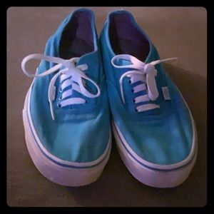 Vans teal 9.5 good condition